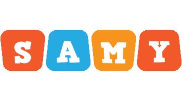 Samy comics logo