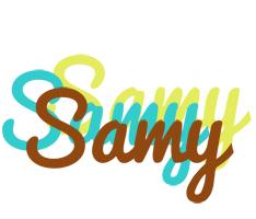 Samy cupcake logo