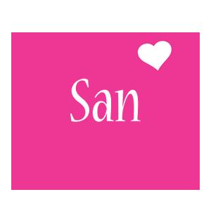 San love-heart logo