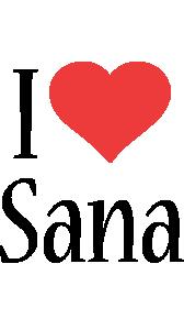 Sana i-love logo