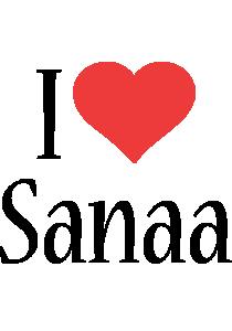 Sanaa i-love logo