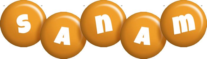 Sanam candy-orange logo