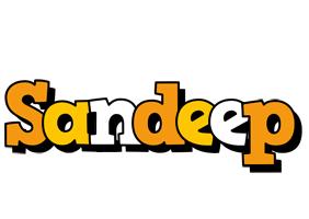 Sandeep cartoon logo