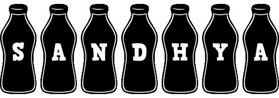 Sandhya bottle logo