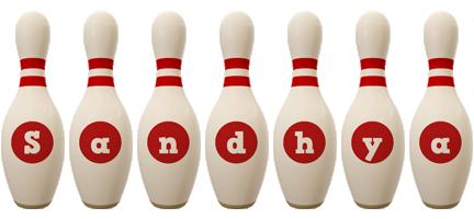 Sandhya bowling-pin logo
