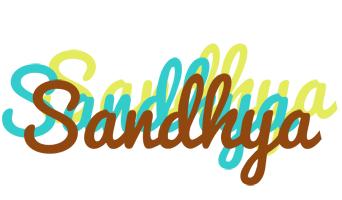 Sandhya cupcake logo