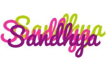 Sandhya flowers logo