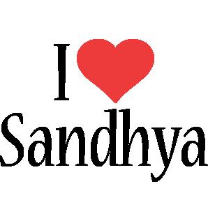 Sandhya i-love logo