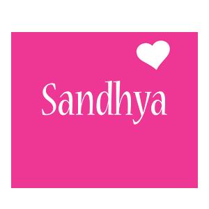 Sandhya love-heart logo