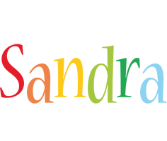 Sandra birthday logo
