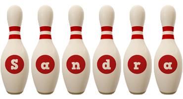 Sandra bowling-pin logo
