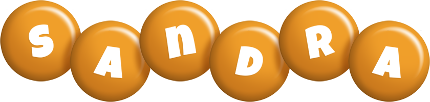 Sandra candy-orange logo