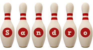 Sandro bowling-pin logo