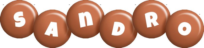 Sandro candy-brown logo