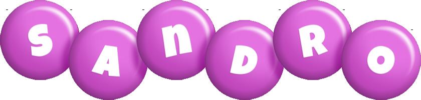 Sandro candy-purple logo