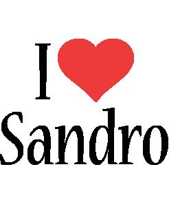 Sandro i-love logo