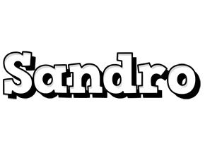 Sandro snowing logo