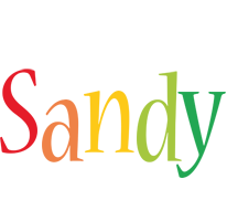 Sandy birthday logo