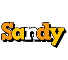 Sandy cartoon logo