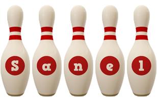 Sanel bowling-pin logo