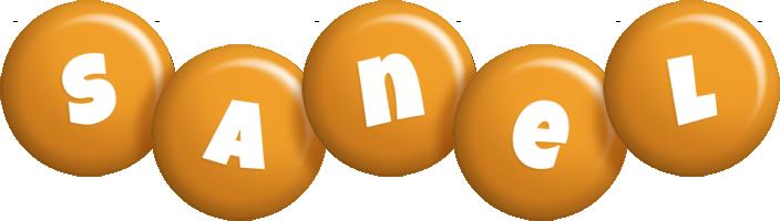 Sanel candy-orange logo