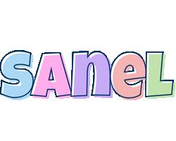 Sanel pastel logo