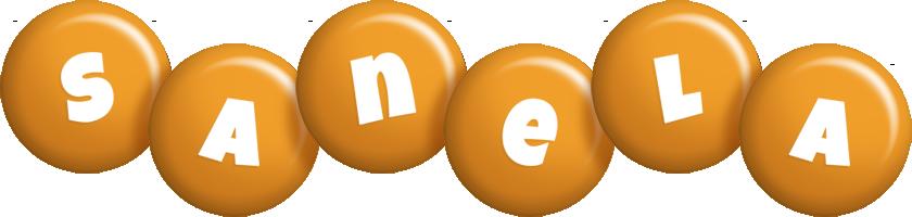 Sanela candy-orange logo