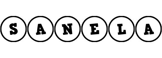 Sanela handy logo