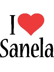 Sanela i-love logo
