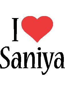 Saniya i-love logo