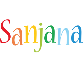 Sanjana birthday logo