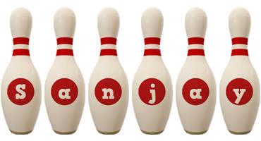 Sanjay bowling-pin logo