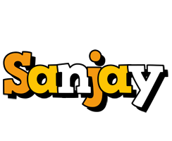 Sanjay cartoon logo