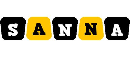 Sanna boots logo