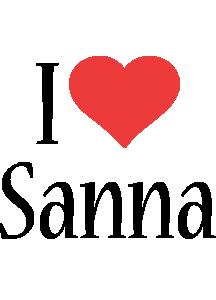 Sanna i-love logo