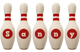 Sanny bowling-pin logo