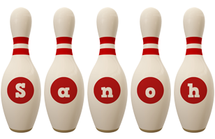 Sanoh bowling-pin logo