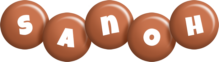 Sanoh candy-brown logo