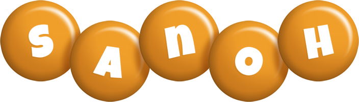 Sanoh candy-orange logo