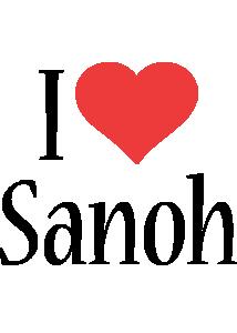 Sanoh i-love logo