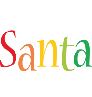 Santa birthday logo