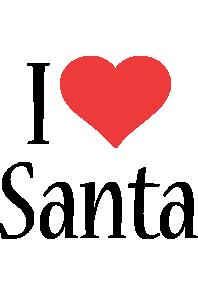 Santa i-love logo
