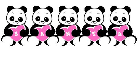 Santa love-panda logo