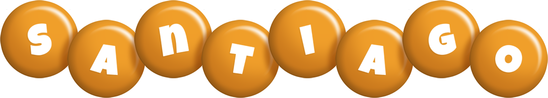 Santiago candy-orange logo