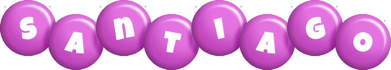 Santiago candy-purple logo