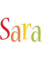 Sara birthday logo