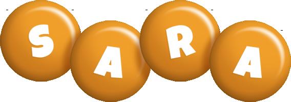 Sara candy-orange logo