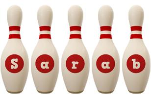 Sarab bowling-pin logo