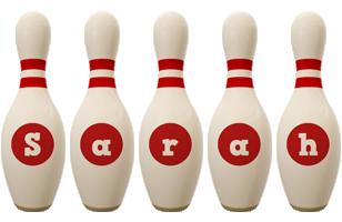 Sarah bowling-pin logo
