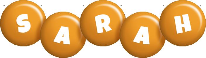 Sarah candy-orange logo